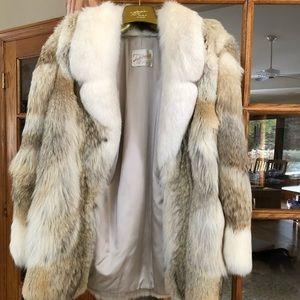 1987 natural full skin coyote fur coat